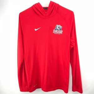 Nike Belmont Stadium Dri-fit Touch Red Hoodie Sm
